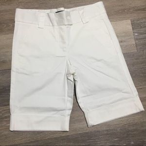 The Limited White Bermuda Shorts